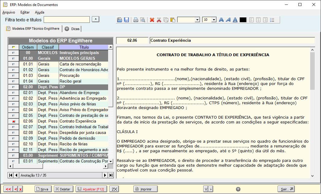 Modelos de Documentos